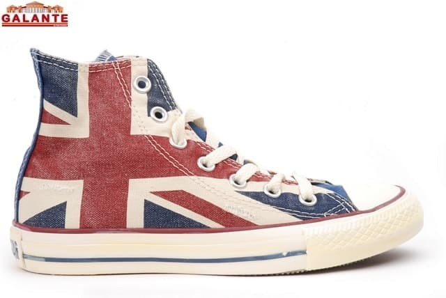 SCARPE CT HI UK FLAG C/BORCHIE