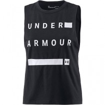 UA MUSCLE TANK LINEAR WORDMARK